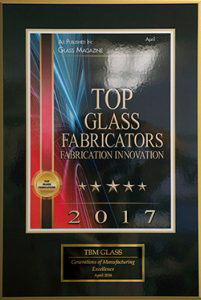 top glass fabricator award